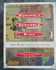 Boxed Set MACPLAY 3 Games Floppy Discs Monopoly Scrabble Risk