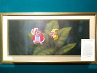 BLACK CAULDRON 1985 DISNEY HAND PAINTED PRODUCTION SETUP OF FAIRIES ON PAN BG