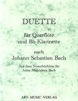 DUETTE QUERFLÖTE & Bb KLARINETTE > J.S. BACH ( NOTEN )