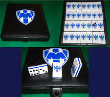 Rayados de Monterrey Dominoes Game Set Double Six Domino Leather Case Man Cave