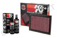 K&N 33-2409 Hi-Flow Air Intake Drop in Filter + 99-5050 Recharger Cleaning Kit