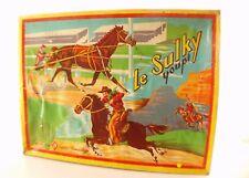 SPM TOUMOULAGE Le sulky Youpi jouet ancien RARE cheval jockey rodeo en boite