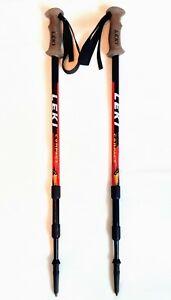 Leki Makalu COMPACT Walking Hiking Poles Sticks PAIR Antishock EXCELLENT COND x2