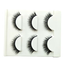 3 pairs Manual Short False Eyelashes 3D multi-layer Messy Natural Eye Lashes