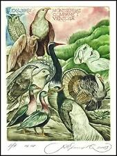 Kirnitskiy Sergey 2003 Exlibris C4 Bird Eagle Eule Owl Swan Turkey Pheasant 59