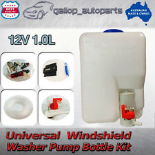 UNIVERSAL 12V WINDSCREEN WASHER BOTTLE KIT-BOTTLE PUMP MOTOR JETS WIRING SWITCH