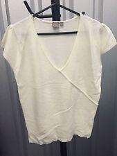 Waist Length V Neck Short Sleeve TU Tops & Shirts for Women