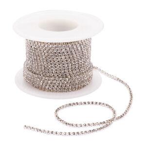 10yards/roll Crystal Rhinestone Strass Rhinestone Cup Chain Wedding Decoration
