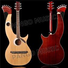 PANGO Music Real guitar factory, Spruce top Double Neck, Harp guitar