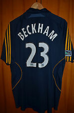 LOS ANGELES GALAXY 2007/2008 AWAY FOOTBALL SHIRT JERSEY Adidas BECKHAM #23