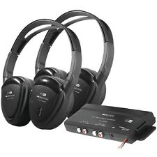 POWER ACOUSTIK HP-902RFT 2 Sets of 2-Channel RF 900MHz Wireless Headphones with