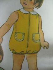 Vintage Simplicity 9290 BUBBLESUIT ROMPER Sewing Pattern Toddler Sz 1 Jumpsuit