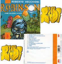 Roberto Vecchioni ROBINSON CD Raro FRANCE CA 835 (Xi4)lp mc dvd vhs