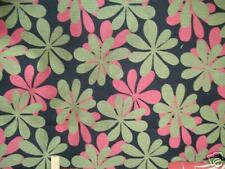 GREEN BLACK PINK  RETRO FLORAL UPHOLSTERY  FABRIC