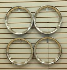 """15"""" NEW Stainless Steel Beauty Rings TRIM RING SET Of 4"""