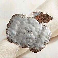 Pier 1 Imports Napkin Ring Galvinized Metal Angel Silver New