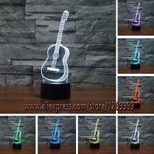 3D Guitar House Decor LED 7 Color Change Touch Light Desk Lamp Children Gifts
