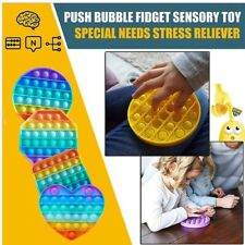 Push Pop Bubble Sensory Toys Autism Stress Reliever Squeeze Tabletop Anti-Stress