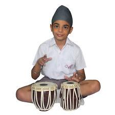 Indian Folk Musical Instrument Kids Playing Mini Tabla Set - 8 Years Old Kids