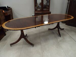 Quality Antique Style Mahogany Pedestal Dining Table Millwood Cabinet Making