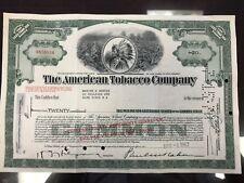 American Tobacco Stock Certificate