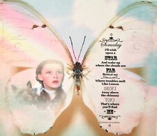 "Wizard of Oz Over The Rainbow Lyrics 5"" Butterfly Wall Art Judy Garland 3D Decal"