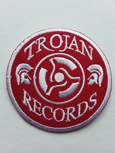 TROJAN RECORDS SKA REGGAE SKINHEAD PUNK  ROCK MUSIC EMBROIDERED PATCH UK SELLER