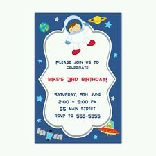 30 invitations personalized space planets astronauts boy birthday baby shower