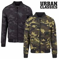 Urban Classics Herren Light Camo Fliegerjacke Bomberjacke Harrington Jacke MA1