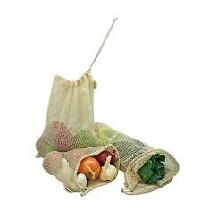 Simple Ecology Reusable Organic Cotton Mesh Grocery Shopping Produce Bags