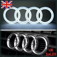 AUDI LED BADGE A3 A4 A5 A6 FRONT GRILL GLOW LOGO EMBLEM RING White Blue LIGHT