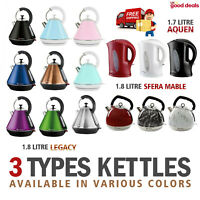 2200W Electric Kettle Cordless Fast Rapid Boil Dry Protection Lime Scale Filter