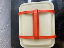 Vintage Tupperware Pack N Carry Lunch Box with Handle Sandwiches Storage Crafts