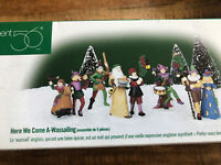 Dept. 56 Here We Come A-Wassailing 5 Figure Set in box w/ sleeve