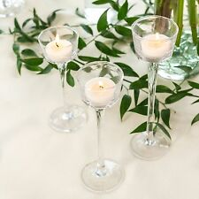 NEW 24Bulk Long-Stem Wedding Glass Table Centerpiece Tealight Candle holders