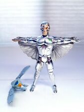 SilverHawks Quicksilver Action Figure with Tally Hawk Kenner Toys 1986 COMPLETE