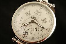 Vintage OLD stock BIG watch Mason World Government Masonic symbols Freemasons