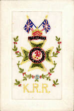 WW1 Regimental Silk. King's Royal Rifle Corps.