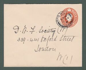 1921 GB - GV 2d stationery envelope from Red Hill to London (P766)