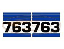 Bobcat 763 Side Decal Sticker Kit Skid Steer Loader Number with Stripes