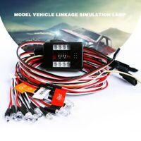 12stk Set Flashing LED Lampen Nachtlichter Beleuchtung Kit für 1/10 RC Car Auto