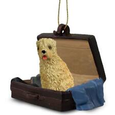 Soft Coated Wheaten Traveling Companion Dog Figurine In Suit Case Ornament