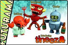 TOYNAMI FUTURAMA TINEEZ BENDER ZOIDBERG ROBOT DEVIL 3 PIECE FIGURE SET NEW