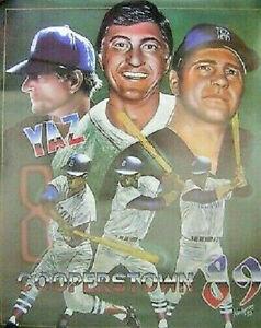 VINTAGE 1989 Carl Yastrzemski Cooperstown 18x24 Poster SEALED BOSTON RED SOX YAZ