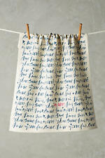 NWT Anthropologie LANGUAGE LOVE DISHTOWEL Letters Amore LINEA CARTA Cotton Linen