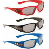 Kids Childrens Boys Girls Wrap Around Sports Red Blue Black Sunglasses UV400