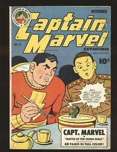 Captain Marvel Adventures # 29 - 1st Mr. Mind cover VG/Fine Cond.