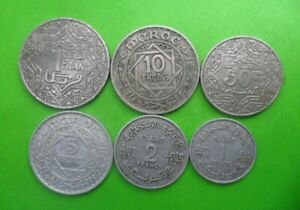 Morocco Maroc  - Lot of 6 Coins