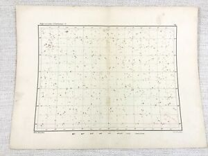 1893 Antique Star Map Chart Eridanus Pieces Taurus Aries Constellation Astronomy