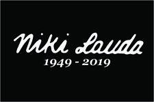 Niki Lauda F1 Ferrari Sticker 200mm Stickers Decal Danke Niki Any Colour
